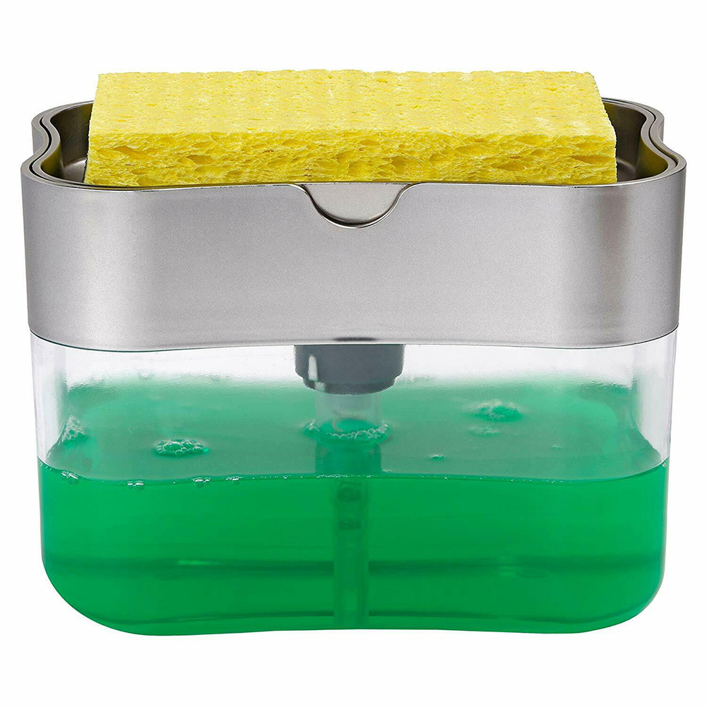 Newest Soap Pump Dispenser Sponge Holder For Dish Soap Sponge Kitchen Tool