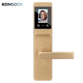 цена на Electronic Biometric Face Recognition intelligent door Lock,  keyless RFID card digital code palm access security smart lock