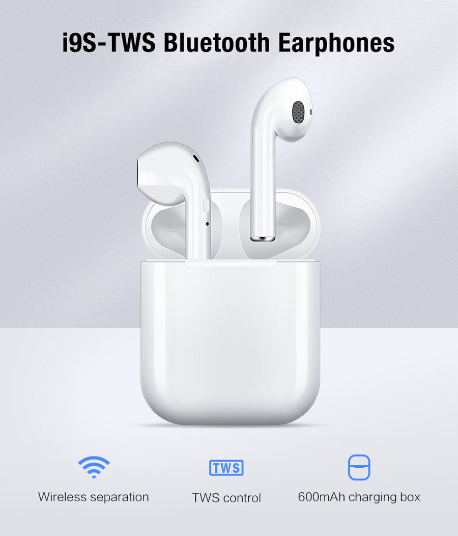 i9s Tws Wireless Headphone Bluetooth 5.0 Earphones Mini In Ear Earbuds With Mic Sports Headset For iPhone Xiaomi Lg & All Phones