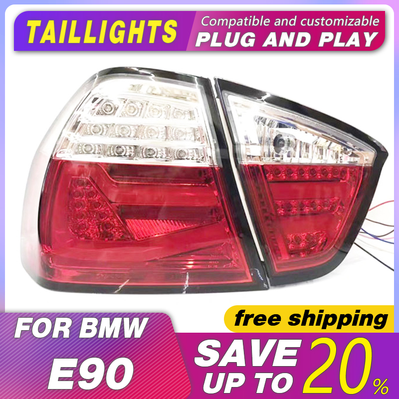 Car Styling for BMW E90 taillights 3 Series rear lamp 318i 320i 325i taillight LED DRL++Turn Signal+Brake+Reverse image