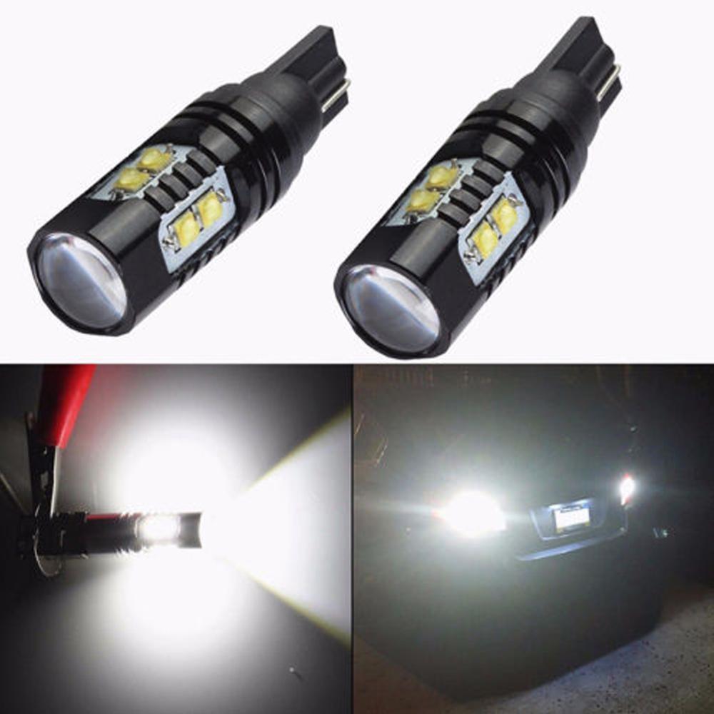 Aluminum Alloy 2PCS 50W 921 912 T10 T15 LED 6000K HID White Backup Reverse Lights Bulb Fog Lamp Wholesale Quick Delivery CSV