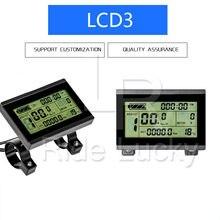 Elektrikli bisiklet 36V 48V 60V akıllı KT LCD3 ekran Ebike LCD bisiklet kontrol paneli su geçirmez seçeneği