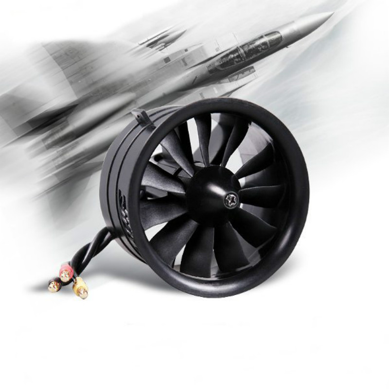 FMS 64mm 4S 3S 11 Blades EDF Unit With KV3150 KV3900 Brushless Motorfor RC Airplane Ducted Fan Plane