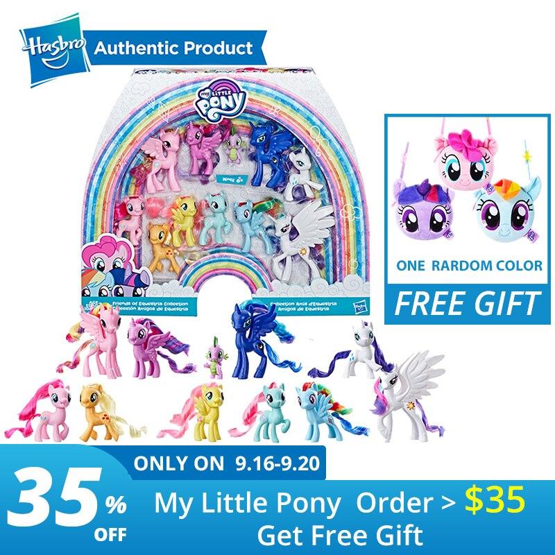 Hasbro mon petit poney jouet arc-en-ciel queue Surprise Collection Pack amis de 11 personnages poney de 3 pouces à collectionner!
