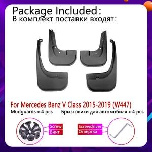 Image 2 - Mudflap for Mercedes Benz V   Class Vito Viano 2015~2019 W447 Fender Mud Guard Splash Flap Mudguards Accessories 2016 2017 2018