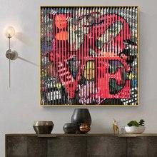 Toile Peinture Abstrait Rue Graffiti Art Lettre Amour Toile Peinture Affiches Et Impressions Mur Art Photos Pour Salon Cuadros