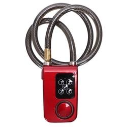 Elektryczny cyfrowy zamek do drzwi z lina stalowa wodoodporne zabezpieczenie przed kradzieżą domu z alarmem 110Db do drzwi i rowerów