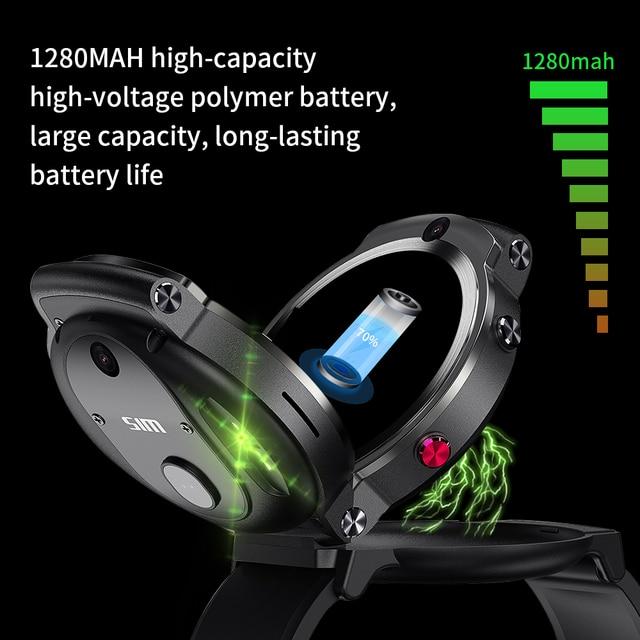 LEMFO LEM13 Smart Watch 4G Slip Dual Camera 1.6 inch Round Screen OS Android 7.1 3G RAM 32G ROM LTE 4G Sim GPS WIFI Men Women 6