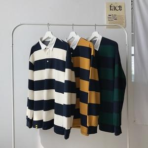Image 4 - 2019 mannen Nieuwe Streep Afdrukken Jassen Losse Lange Mouw Mannelijke Trui Hoodies Katoen Casual Kleding 3 Kleur Sweatshirts M 2XL