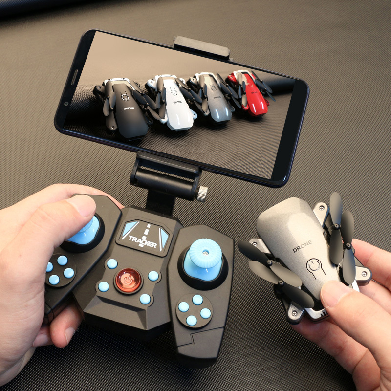 Four-axis Folding Aircraft Gesture Photo Shoot Mini Unmanned Aerial Vehicle Set High Aerial Photography Real-Time Transmission R