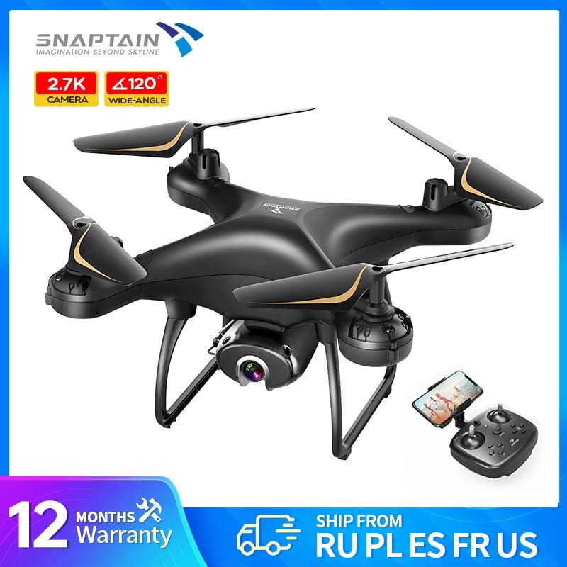 SNAPTAIN SP650 Drone 2 ציר Gimbal מצלמה 2K HD וידאו מצלמה Drone קול מחווה שליטה רחב זווית מתקפל quadcopter RC dron