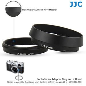 Image 3 - JJC LH X100 AR X100 מתכת עדשת הוד שמש צל עם 49mm מסנן מתאם טבעת עבור פוג י Fujifilm X100V X100F X100T x100S X100 X70
