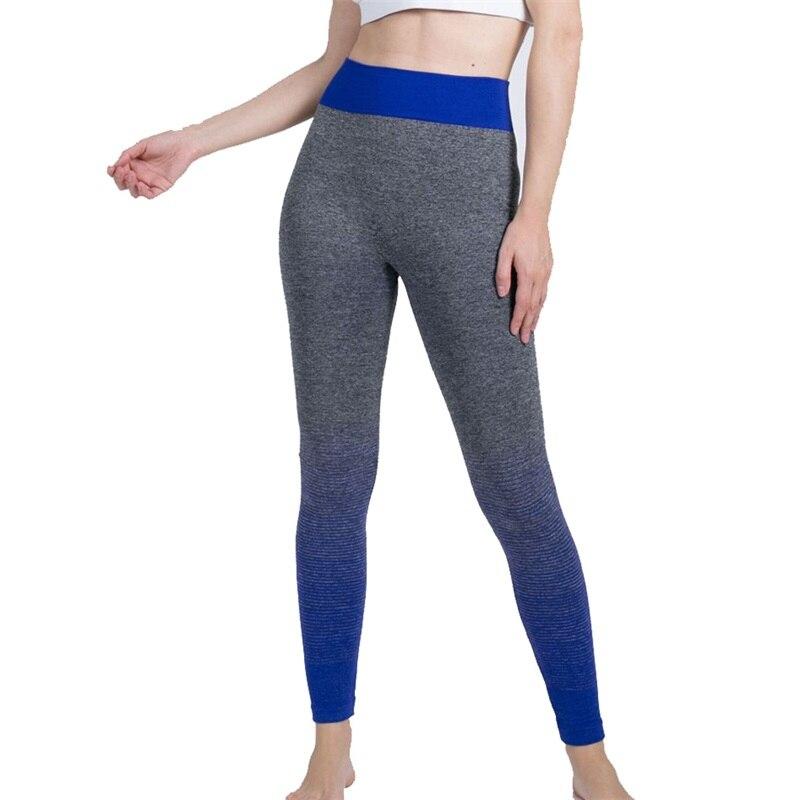 GAOKE Women Fitness Seamless Leggings High Waist Fitness Legging Sporting Leggings Stripe Jeggings