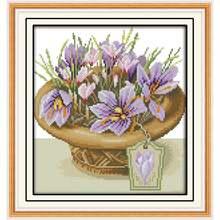 Joy sunday горшочек с орхидеями вышивка крестиком цветы набор