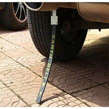 Automóvel eletricidade estática com único fio de cobre estilo do carro cinto de metal evitar carro antiestático eletrostático cinto cancelador