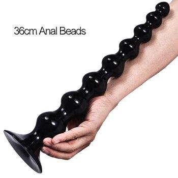 Langer großer Anal Perlen Kugeln Anal Plug Big Buttplug Prostata Massage 1