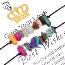 Набор браслетов momiji из натурального камня 2 шт Женская веревочная