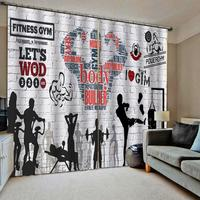 Cortinas blackout sheer tijolo decoração da parede cortinas para sala de estar quarto esporte foto moderna para meninos