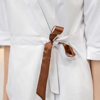 Korean style fashion cosmetologist clothing middle sleeve women\'s white beauty salon clothing four seasons drugstore uniform