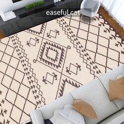 New Dehi series Handmade Modern Bedroom Hotel Sofa Coffee Table 100% Wool Carpet for Living Room