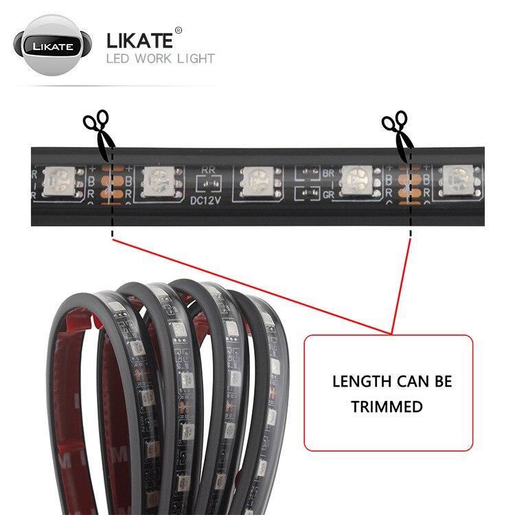 4 шт автомобильные светодиодсветодиодный rgb ленсветильник для