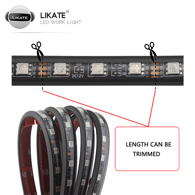 Купить 4 шт автомобильные светодиодсветодиодный rgb ленсветильник для картинки цена