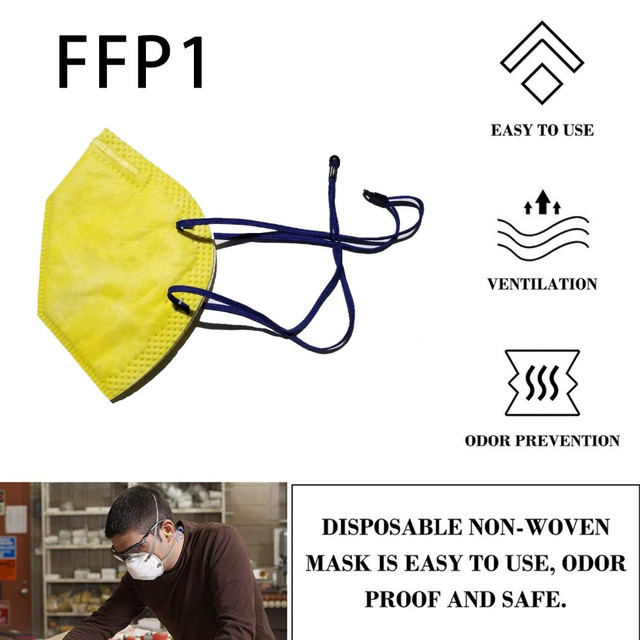 100/50Pcs flu mouth mask FPP1 PM2.5 dustproof N95 grade particles Anti-Dust fluprotection mask. 1