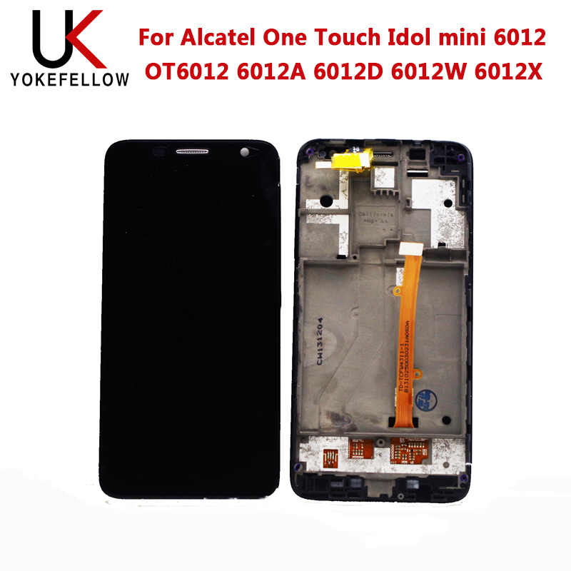 LCD Display For Alcatel One Touch Idol Mini 6012 OT6012 6012A 6012D 6012W 6012X LCD Display Digitizer Screen Complete Assembly