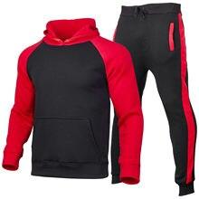 Conjunto de chándal para correr para Hombre, sudadera + Pantalones de jogging con capucha, ropa deportiva informal para Hombre, 2 uds.