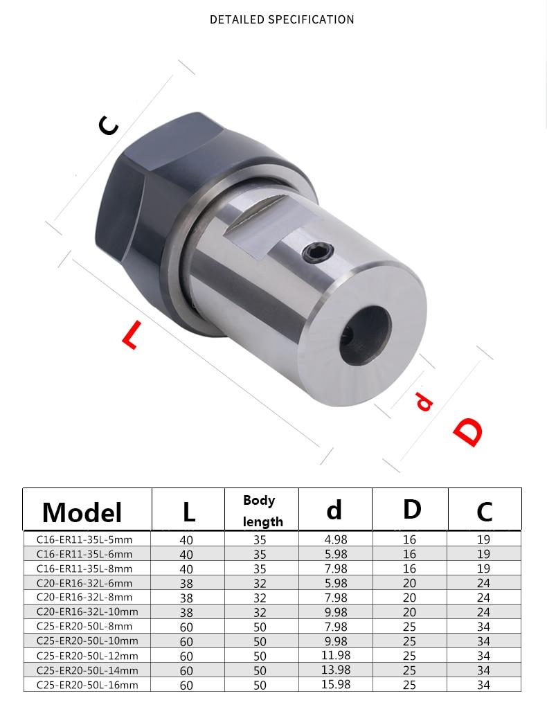 ER11 Chuck for 5mm Spindle Motor Shaft