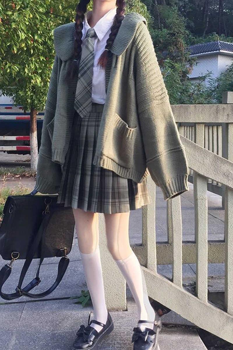 스웨터 겉옷 2020 새로운 스웨터 원더 랜드 카디건 JK 코트 일본 패션 학교 스커트 학교 여자 유니폼
