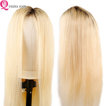 1b 613 Lace Front Human Hair Wigs For Black Women Honey Blonde Straight Lace Wig Pre Plucked Remy Peruvian Wig Natural Hairline(China)