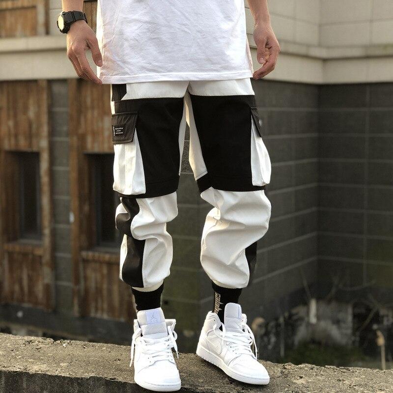Harem Jogger Pants Men 2020 Streetwear Cargo Pants Male Fashion Pockets Sweatpants Mens Joggers Ankle-length Trousers Man