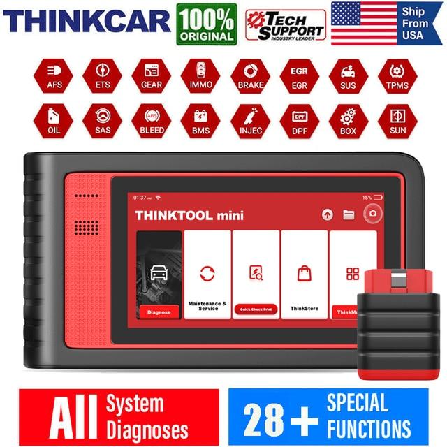 THINKCAR Thinktool Mini OBD2 samochodowe narzędzia diagnostyczne pełny układ Airbag urządzenia do skanowania czytnik kodów ECU kodowanie skaner OBD2 Professional