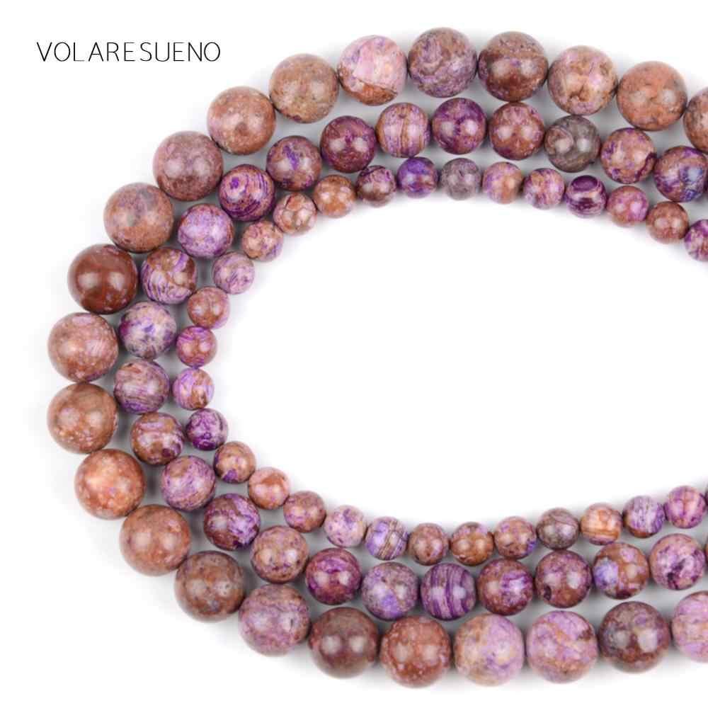 Charoite piedra redonda cuentas sueltas 15 Strand Pick 6-12mm cuentas espaciadoras para encanto collar pulsera accesorio la fabricación de la joyería