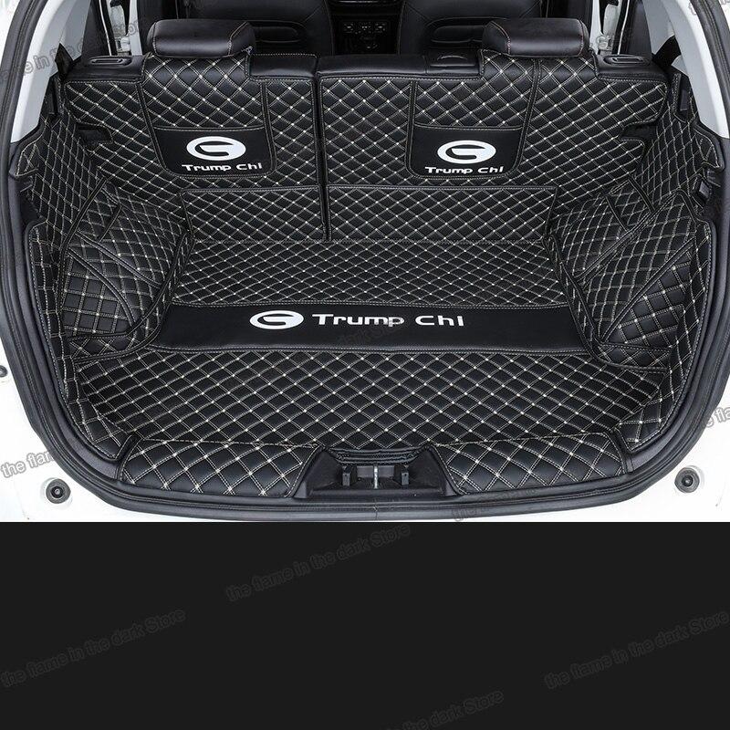 Lsrtw2017 per trumpchi gs3 bagagliaio di un'auto in pelle mat cargo liner 2017 2018 2019 2020 SUV boot tappeto interni accessori copertura gac