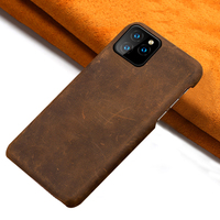 LANGSIDI Genuine PULL UP Leather phone case for iphone 11 11Pro Max X XR XS MAX 6s 7 8 Plus 6 5 5S SE 2020 protection Back cover|Half-wrapped Cases| |  -