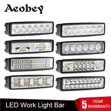 6 inch Led Light Bar Flood Spot Light LED Work Light Driving Lamp For Auto Motorcycle Truck Boat Tractor Trailer Offroad 12V 24V