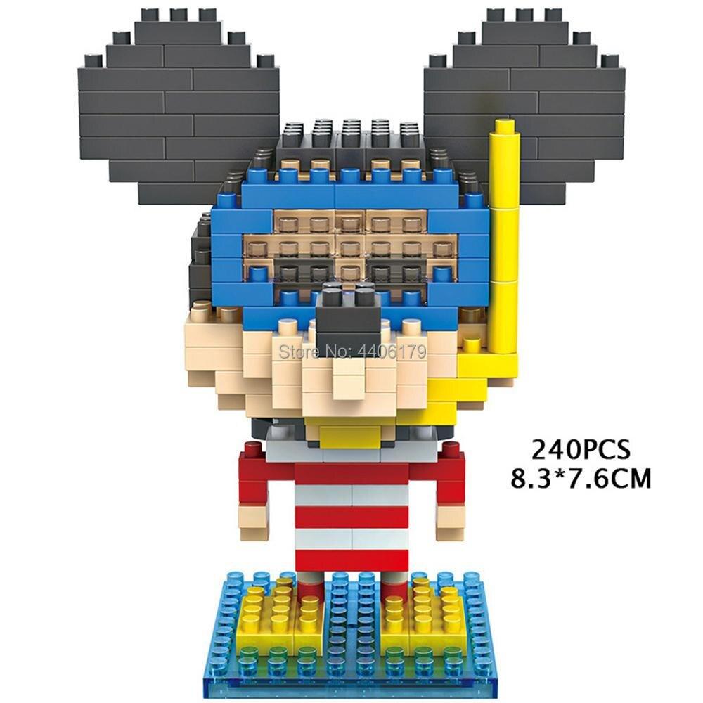 Disney Mickey Mouse Super Man Lego Block DIY Educational Set USA SHIPS FAST