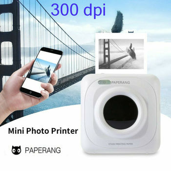 Portable Thermal Bluetooth Printer 58mm Mini Wireless POS Thermal Picture Photo Printer for Android IOS Mobile Phone