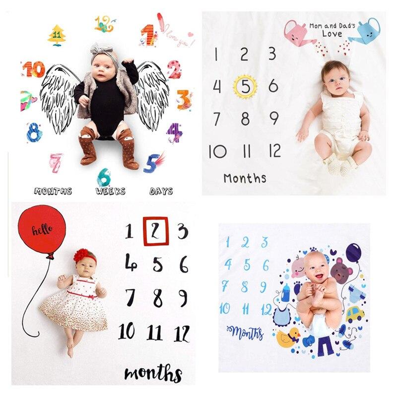 Ins heißer ewborn baby Monatlichen Wachstum Milestone Hintergrund Decke foto requisiten Tuch für Teppich baby jungen mädchen Fotografie Zubehör