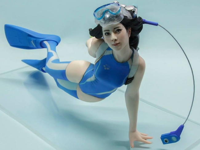 1/8 Modern Girl With Swim (length 140mm )  Resin Figure Model Kits Miniature Gk Unassembly Unpainted