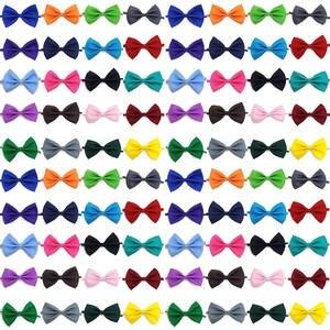 Bow-Tie Collar Pet-Accessories Wholesale 100pcs Puppy-Bows-Supply Pet-Dog Adjustable