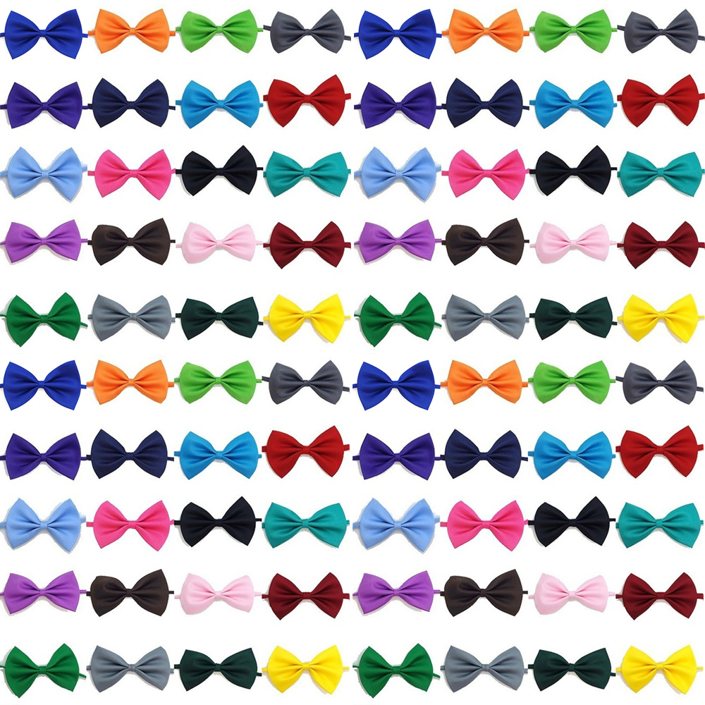 Wholesale 100Pcs Adjustable Dog Cat Bow Tie Neck Tie Pet Dog Bow Tie Puppy Bows Supply Collar For Kitten Collar Pet Accessories