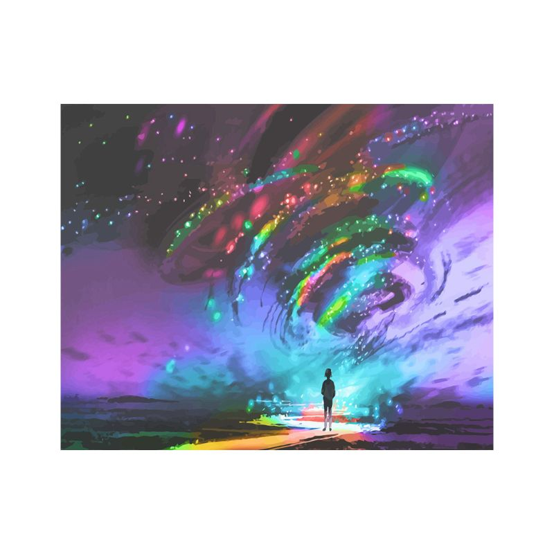 Tornado Frameless DIY Digital Oil Paintings By Numbers Canvas Wall Picture Decor thumbnail