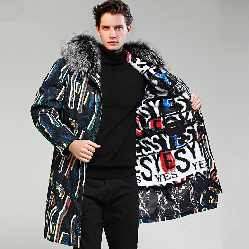 Jacket Parka Real-Fur-Coat Winter Korean YY1154 3678 Casaco Streetwear Men
