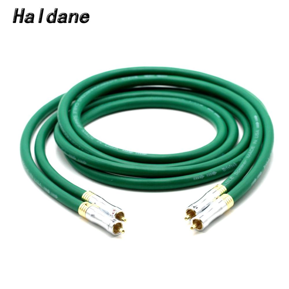 Haldane HIFI <font><b>MCINTOSH</b></font> <font><b>2328</b></font> Audio Cable 7N Copper <font><b>Mcintosh</b></font> RCA Interconnect Audio Cable with Pailicce gold plated RCA Plugs image
