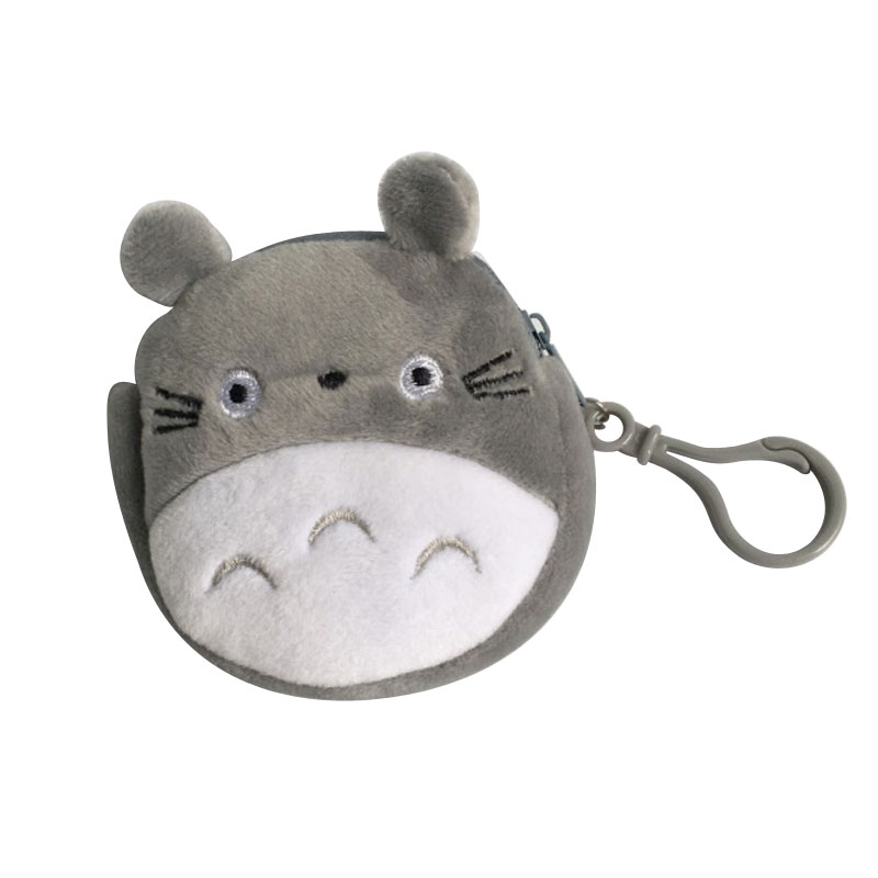 Approx 8CM Mini Totoro Plush Toy Key Hook Plush Coin Purse Practical Bag Wallet Totoro Children's Gift Purse Plush Toys J0237