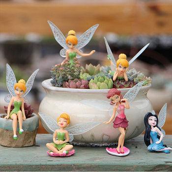 6 uds Hada de las flores Pixie Fly Wing familia miniatura 1 ud. Pájaros artificiales golondrina jardín ornamento decoración del hogar Decoración artesanal