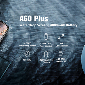 """Image 2 - Blackview A60 Plus 4G Lte 4080Mah Smartphone 6.088 """"Waterdrop Screen Mobiele Telefoon 4Gb Ram Android 10 8MP + 5MP Camera Cellphone"""